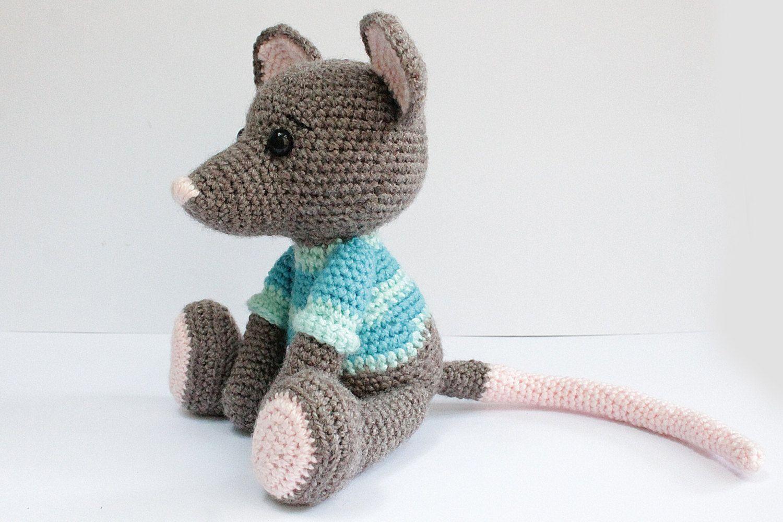 PATTERN : Amigurumi-Mouse Crochet pattern-Knitted by Anatillea ...