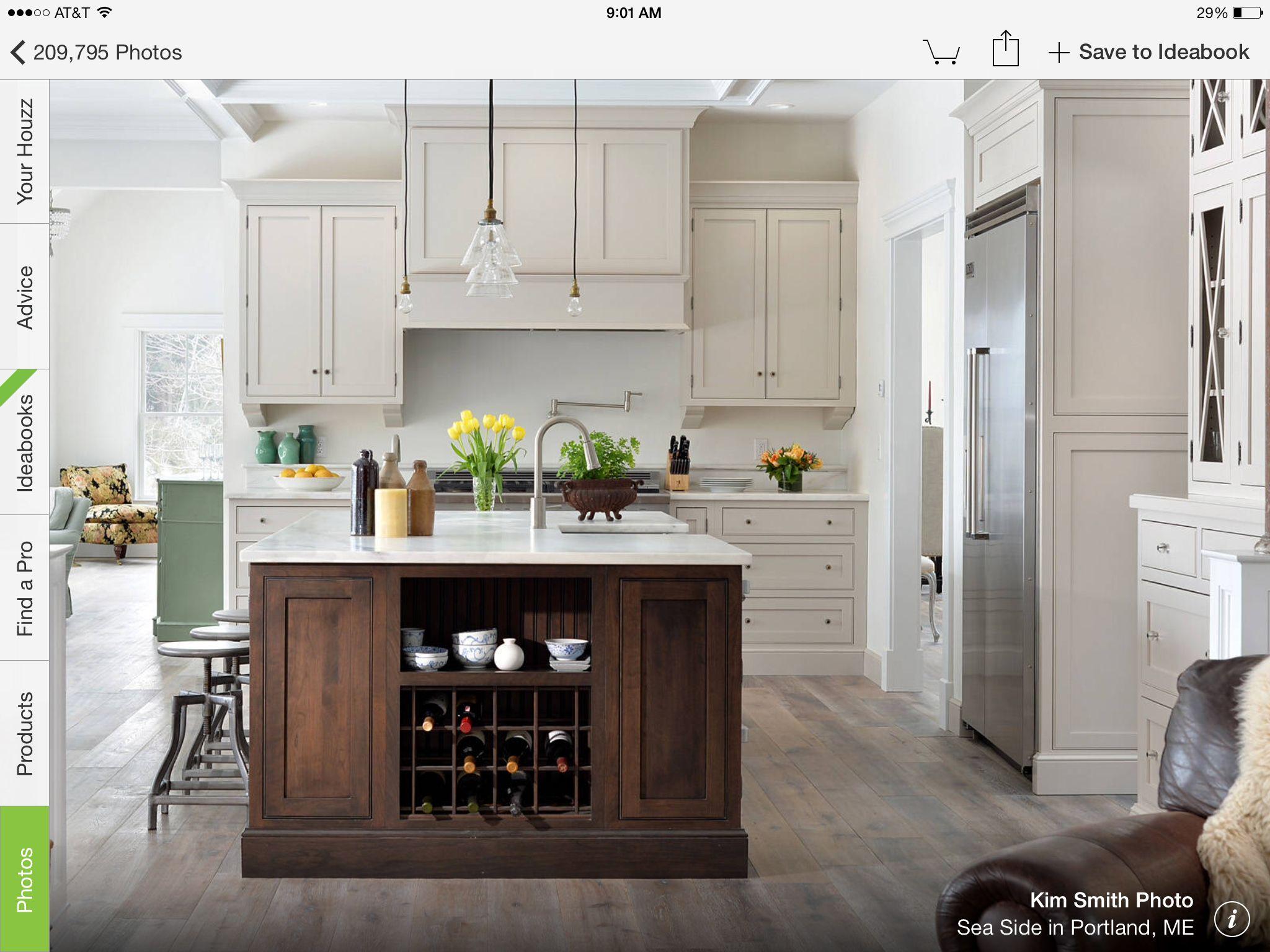 Wood combinations Kitchen design, White kitchen