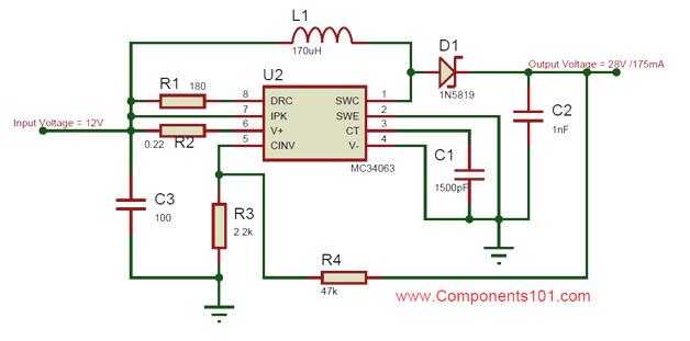 Prime Mc34063 Boost Converter Circuit Electronic Circuit Diagrams In Wiring Cloud Intapioscosaoduqqnet