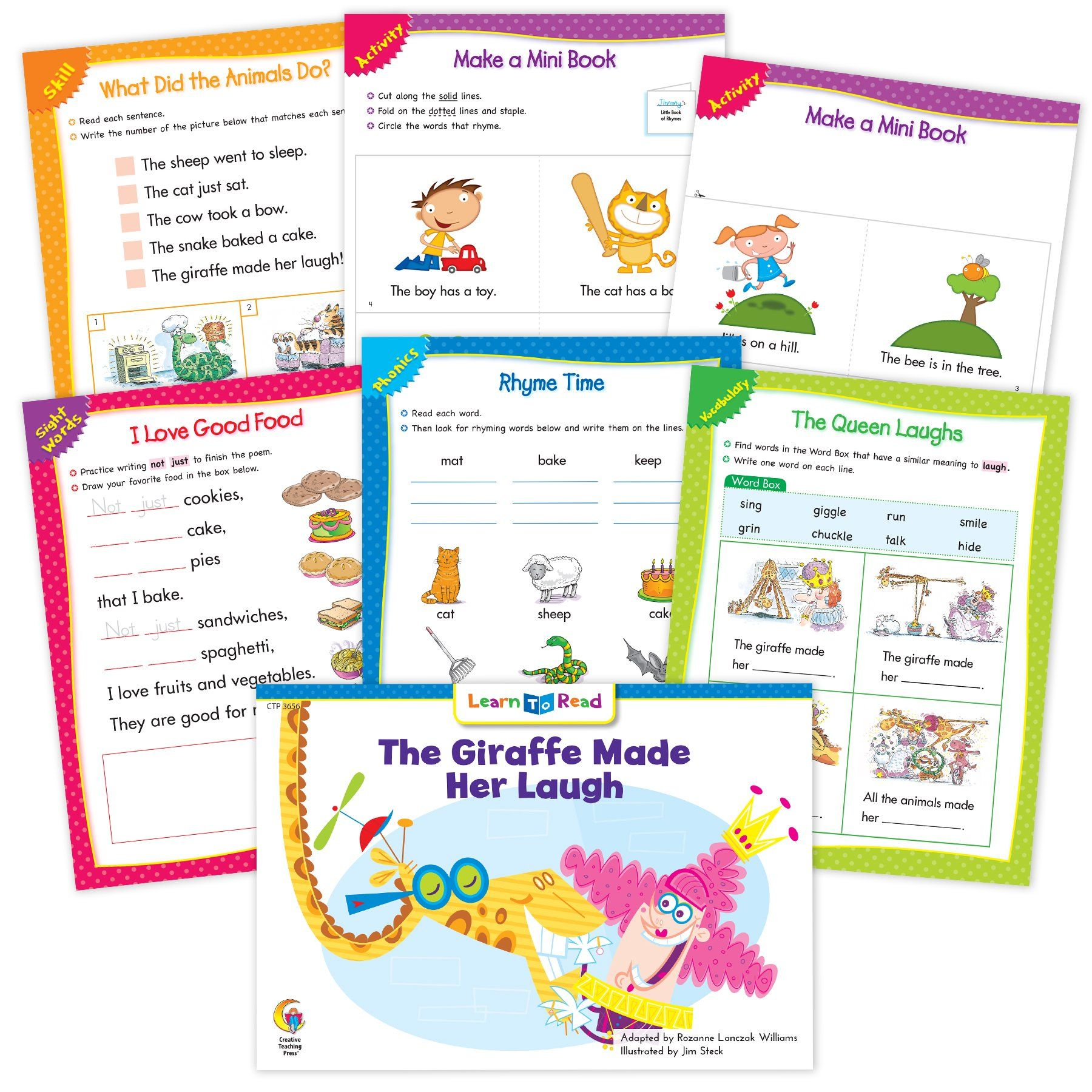 The Giraffe Made Her Laugh Ebook Amp Worksheets In
