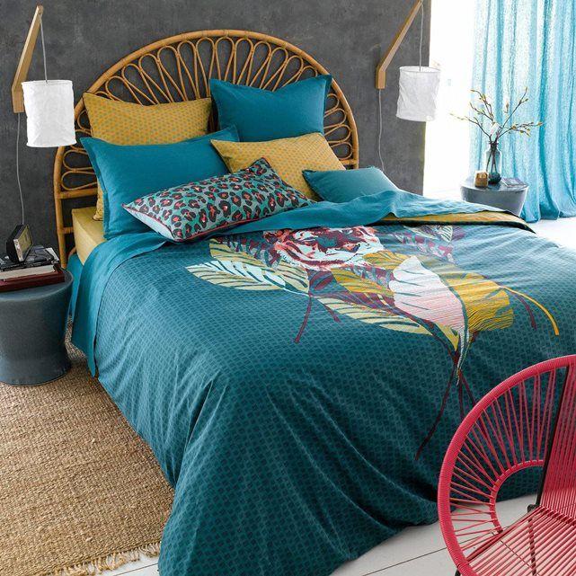 housse de couette pur coton sumatra en solde tete de tigre d paysement et les tropiques. Black Bedroom Furniture Sets. Home Design Ideas