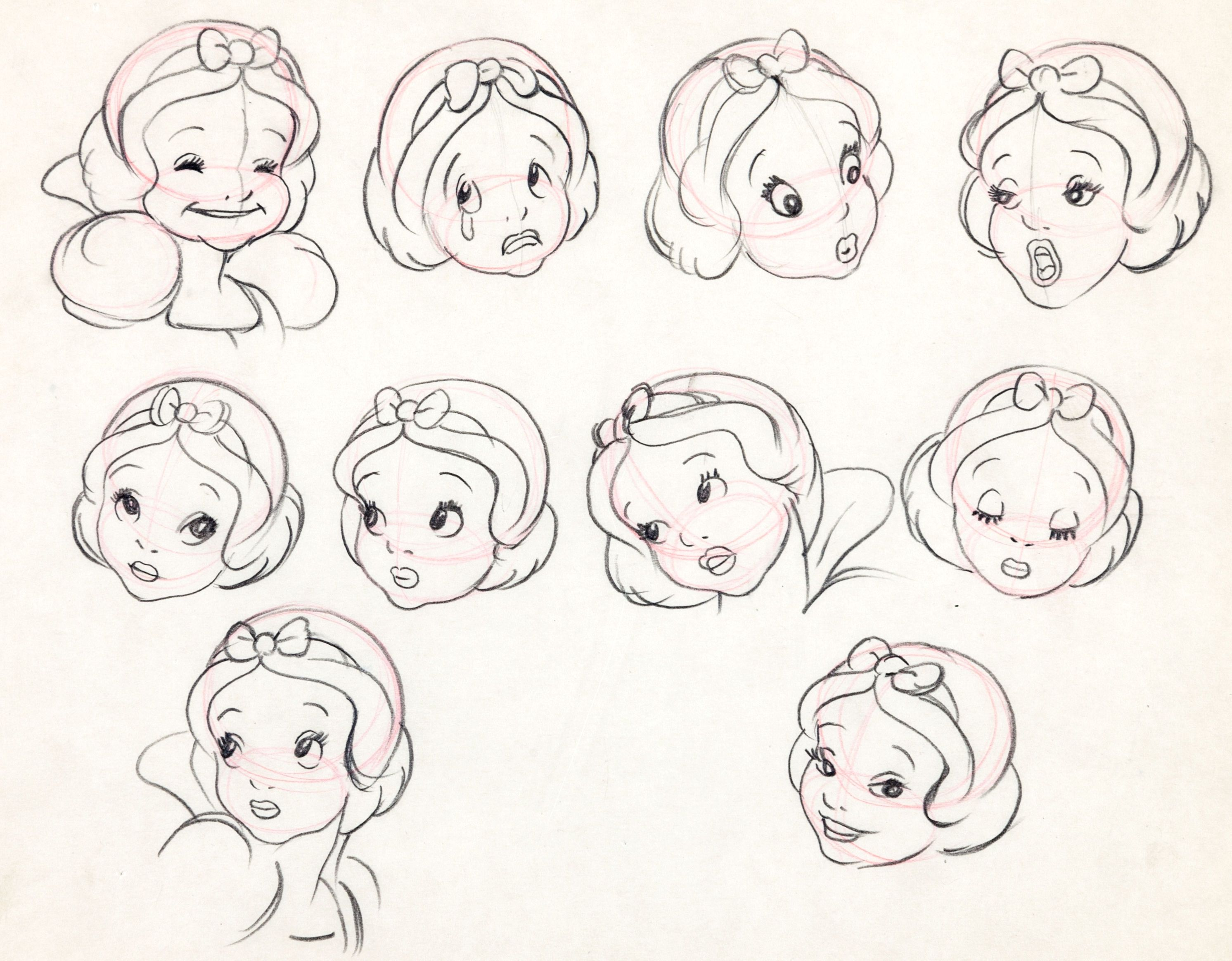 Disney Character Design Study : Face study for disney s quot snow white and the seven dwarves