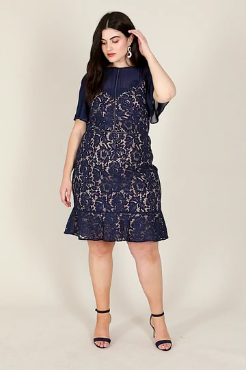 CURVE LACE SKATER DRESS -   11 dress Brokat models ideas