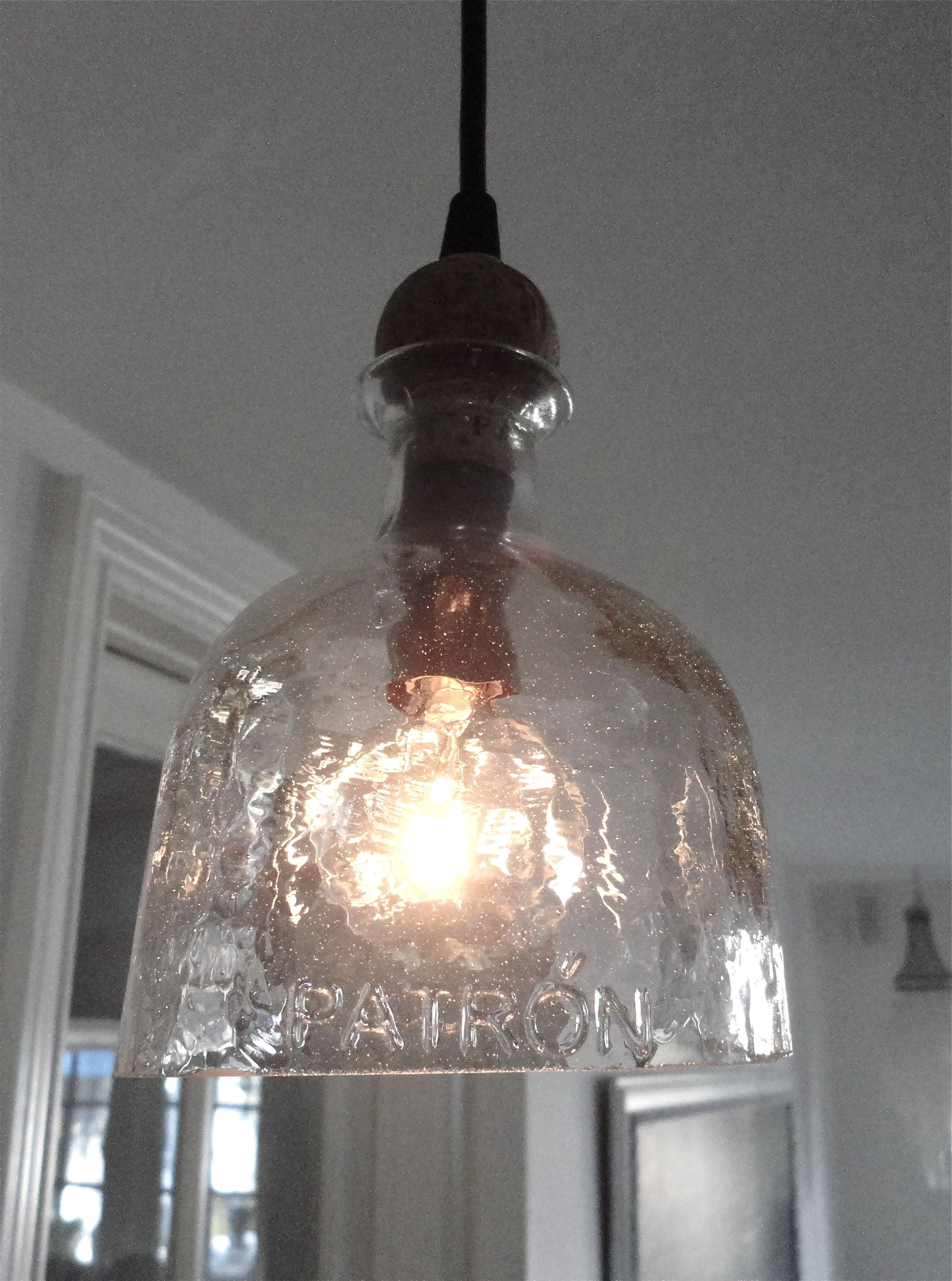Patron Bottle Hanging Light Pendant Pretty Cool Next On My To - Basement light fixture