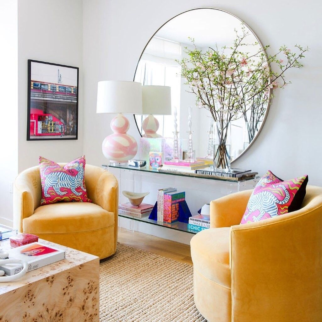 For More Visit Our Site Filled With Bright Hues Warm Textures And Whimsical Patterns This Living Room Is Colourful Living Room Living Room Decor Room Decor Whimsical living room decor