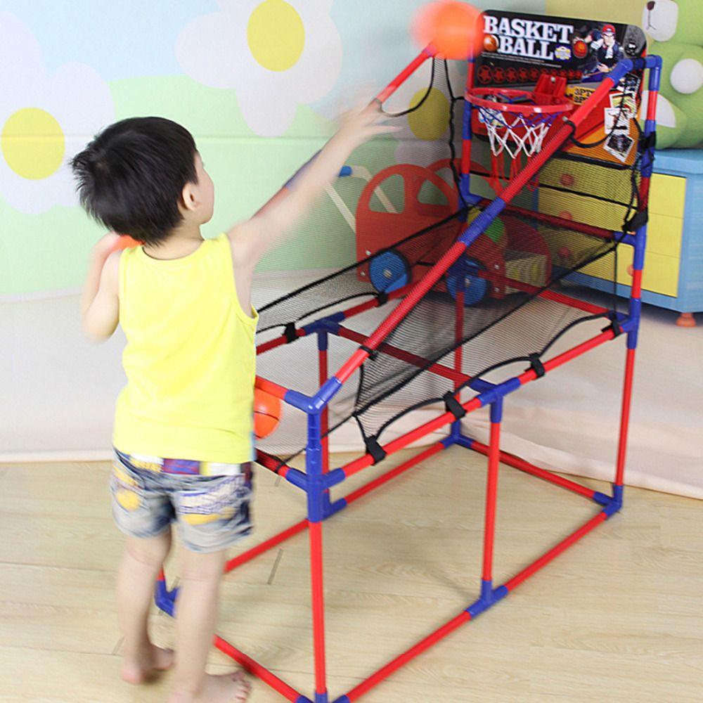 106 160cm Indoor Basketball Sport Game Basketball Machine Basketball Stand 4 Section Height Indoor Basketball Hoop Basketball Games For Kids Indoor Basketball