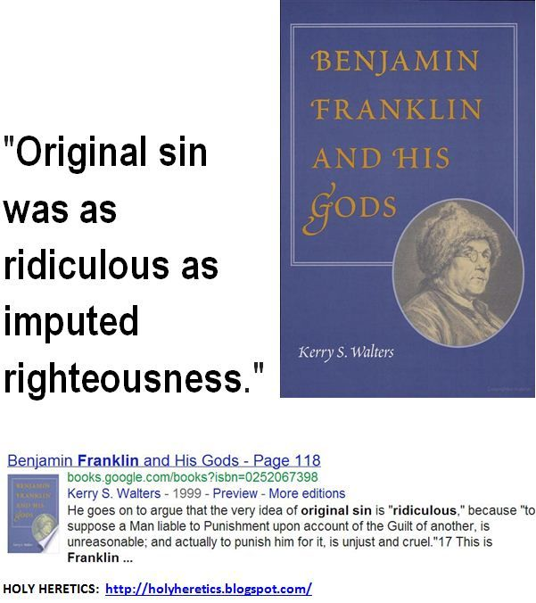 Original sin was as ridiculous as imputed righteousness.    > > > Click image!