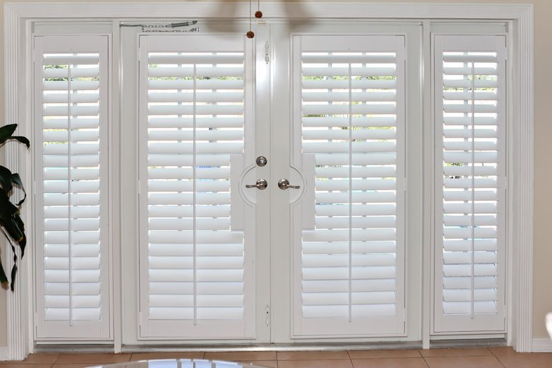 Stained French Door Cut Out True View Plantation Shutters and STD. True View Plantation Shutters | Ideas for the French Doors | Pinterest | Shutters ...