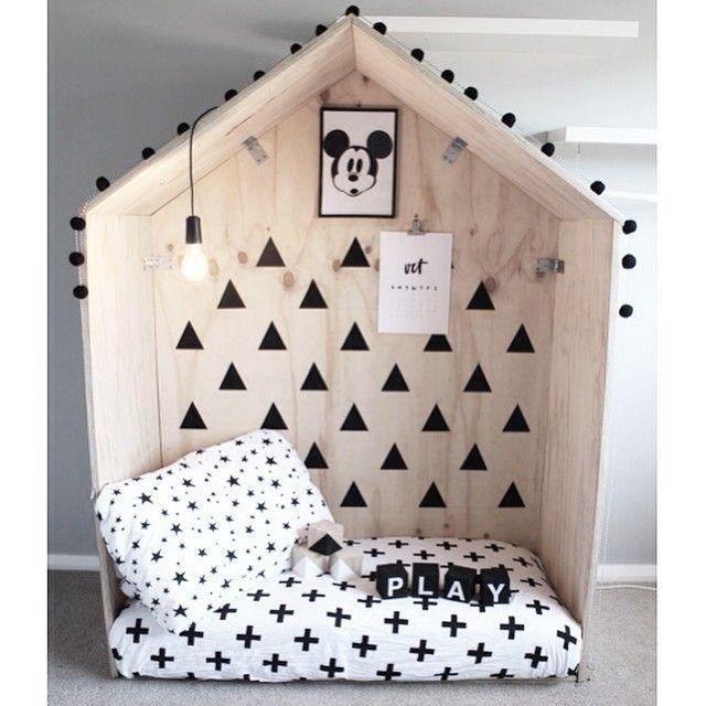 alcôve en forme de maison-cabane | enfance | Pinterest | Alcôve ...