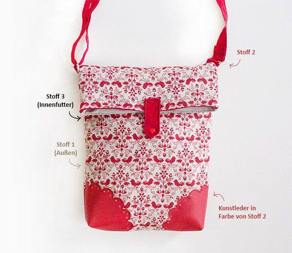 Tasche Marit - Free Tutorial | Taschen | Pinterest | Kreativlabor ...