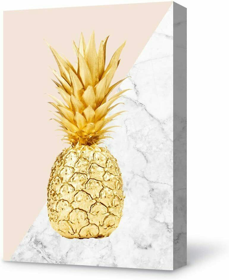 Wall26 Canvas Wall Art Modern Pineapple Canvas Painting Wall Poster Decor In 2020 Wall Painting Pineapple Decor Modern Pineapple