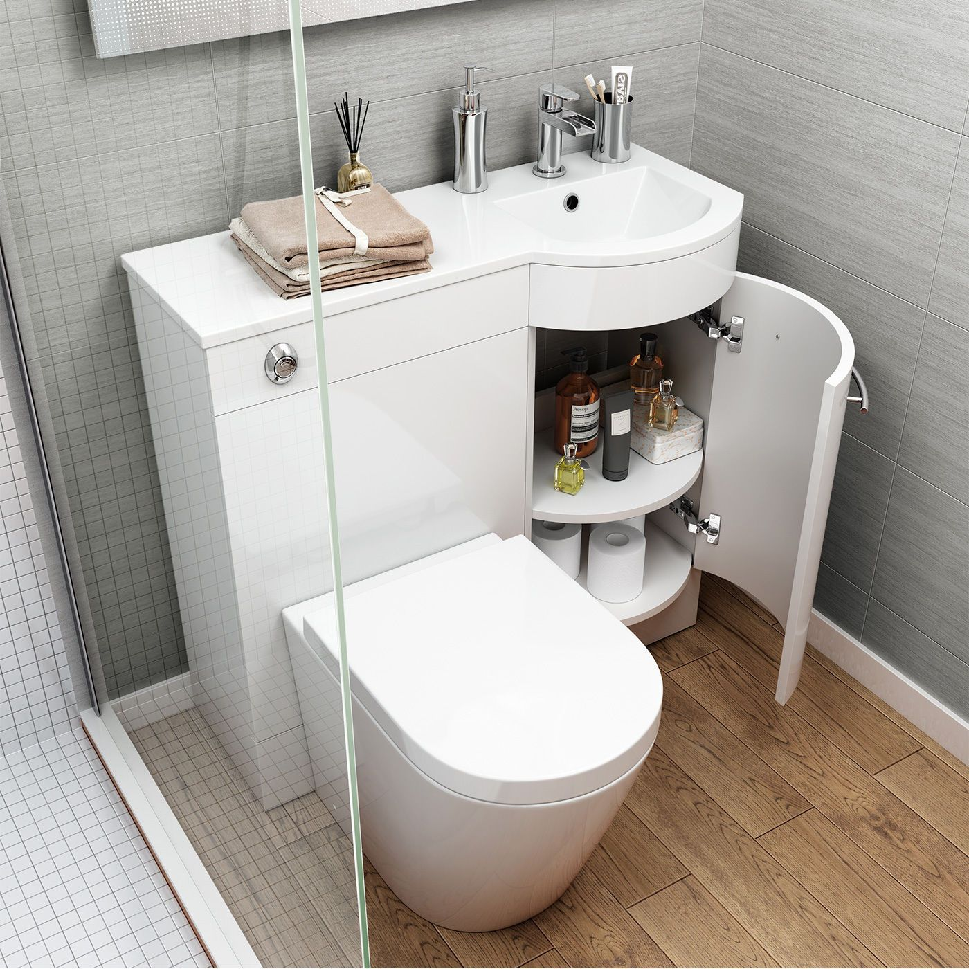Modern White Gloss Bathroom Vanity Unit Sink Toilet Choice Of 900mm And 1200mm White Gloss Finish Choic Small Toilet Bathroom Vanity Units Mold In Bathroom