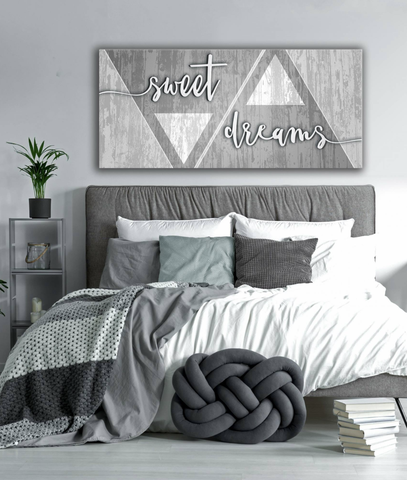 Bedroom Decor Wall Art: Sweet Dreams Wall Art 2 Sizes Available ...