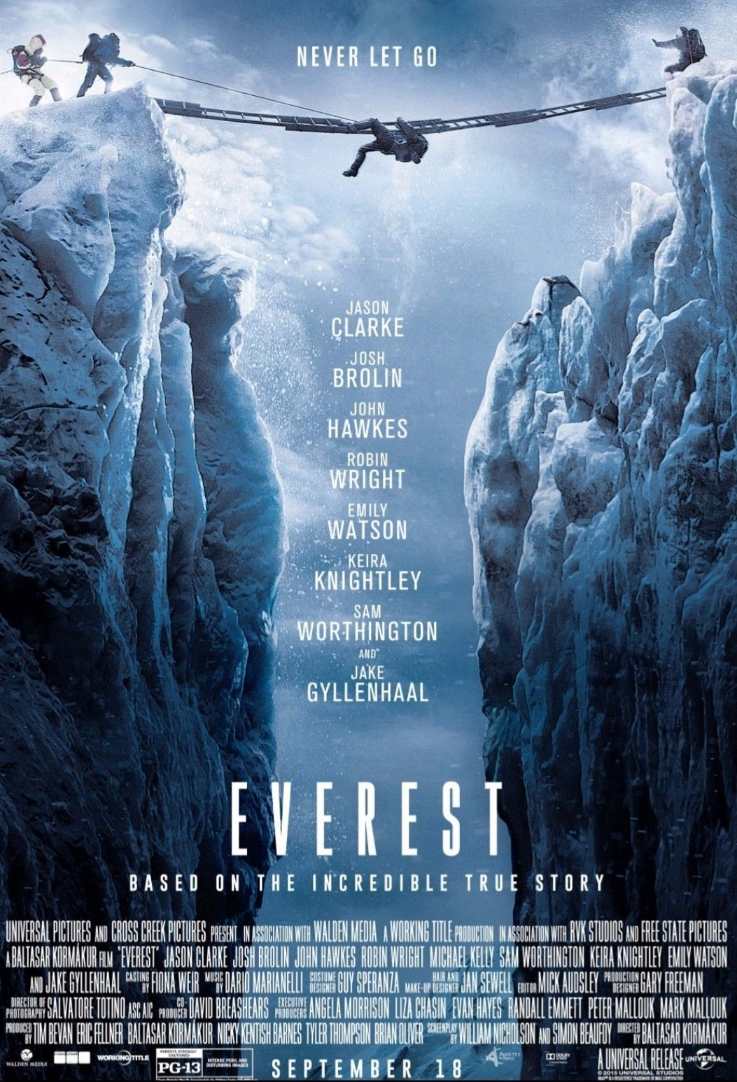 Everest 2015 ‧ Drama/Disaster Film Movie Poster The