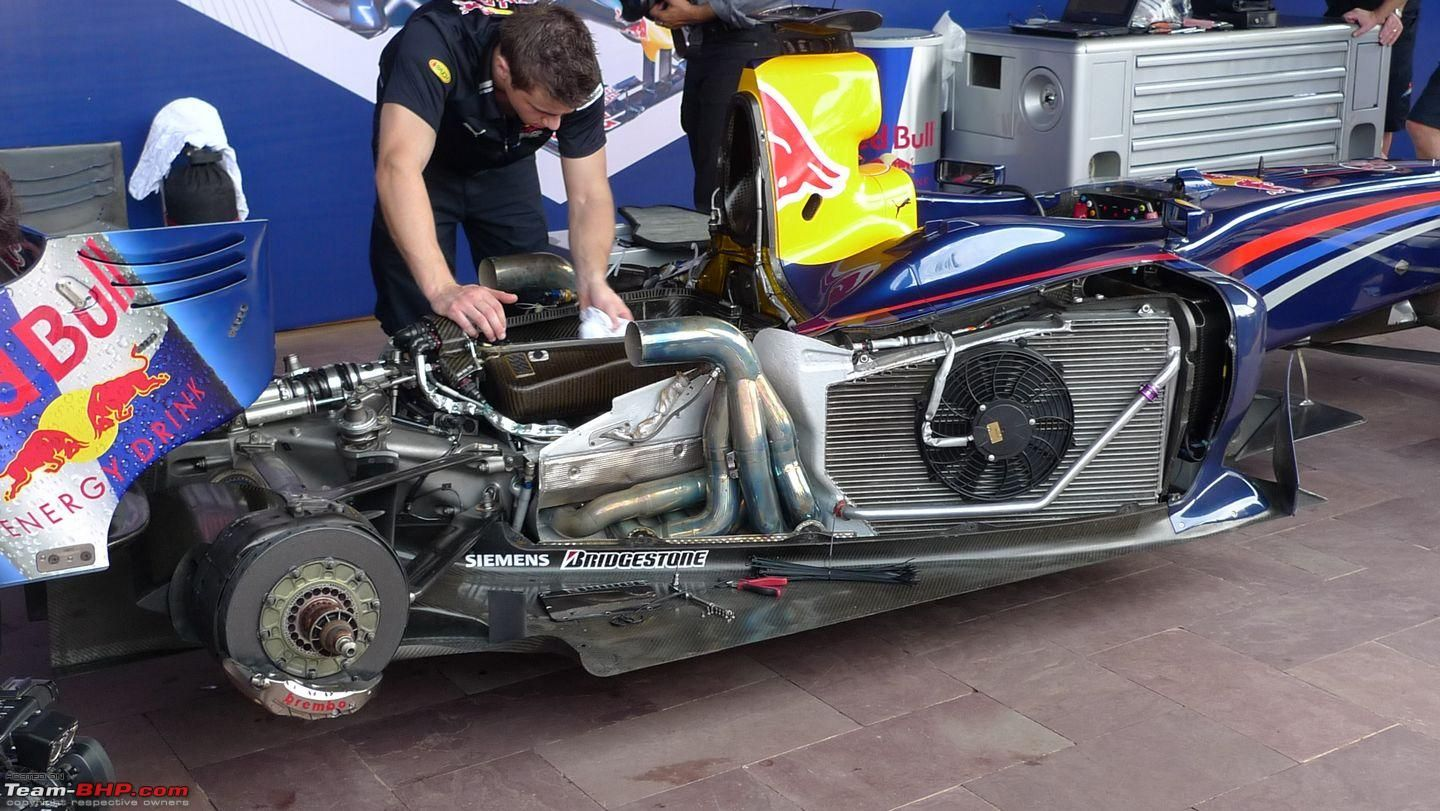 204828d1254924957 Pics Video Red Bull Formula 1 Car Assembly Engine Fire Up Mumbai P1000758    FORMULA RACING MACHINES   Pinterest   Red Bull And F1