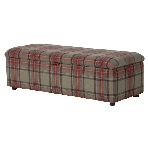 ST.ANDREWS TARTAN OTTOMAN by Coach House £564.90 - Eclectic At Home