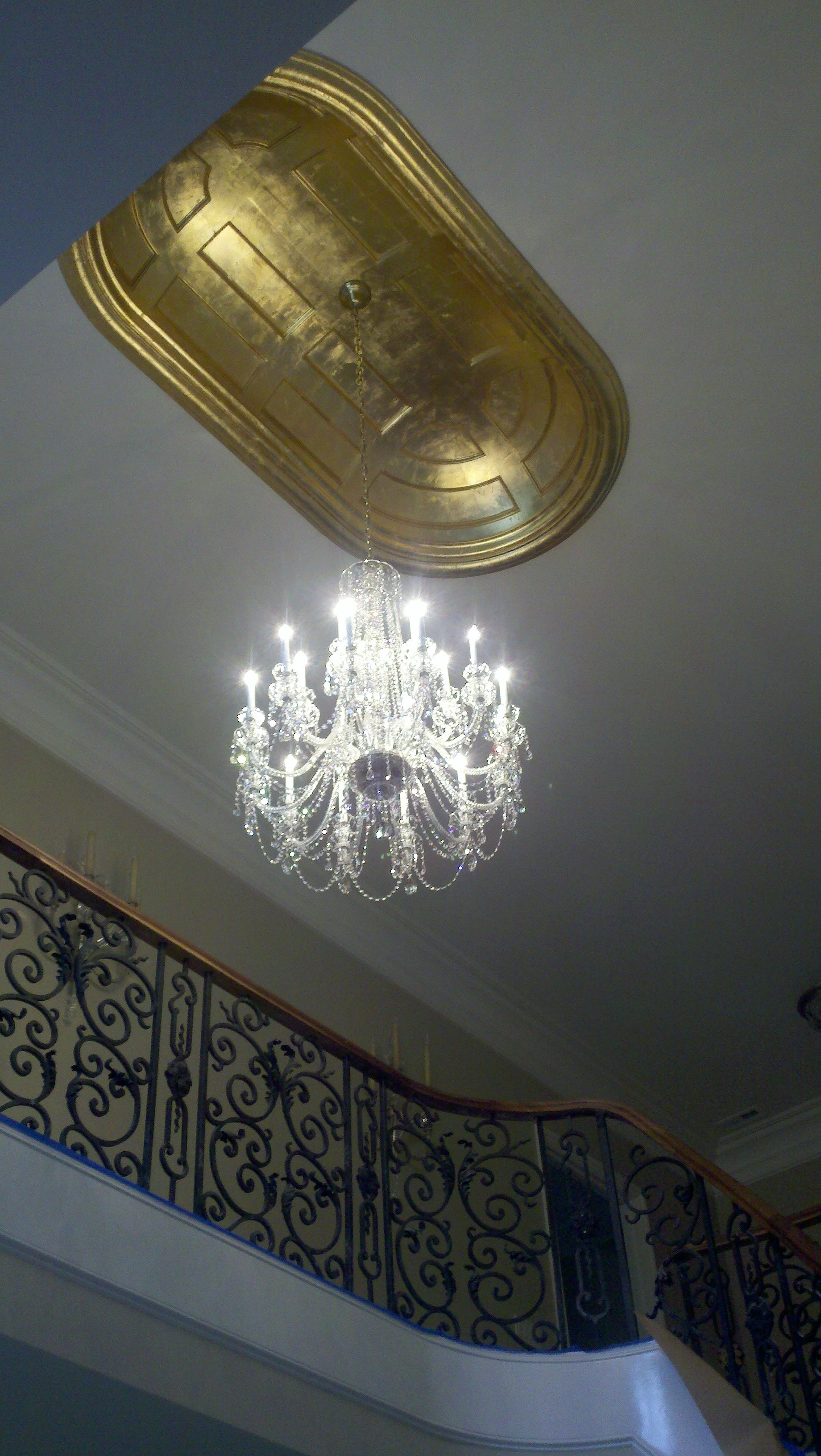 Our king chandelier completes this beautiful grand foyer our our king chandelier completes this beautiful grand foyer arubaitofo Images