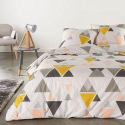 housse de couette hilora gris imprim e en coton la redoute interieurs linge de lit adulte. Black Bedroom Furniture Sets. Home Design Ideas