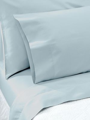 Egyptian Cotton Sheets In A Percale Weave Feel Clothesline Crisp White With 250 Thread Count Fit Thicker Mattresses
