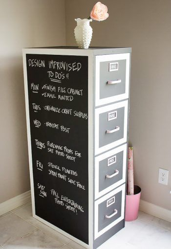 Keep Things Organized In Your Craft Room By Using A File Cabinet
