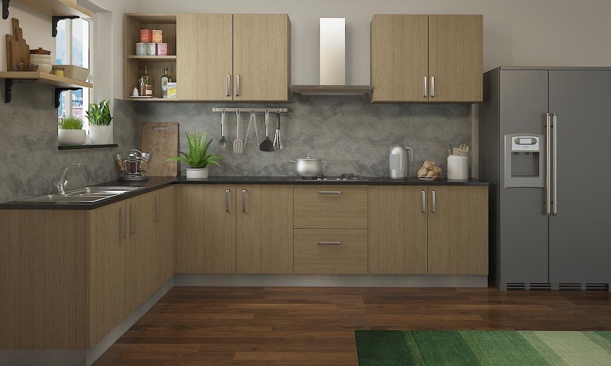 Moe L Shaped Kitchen   Modular kitchen design, Kitchen modular ...