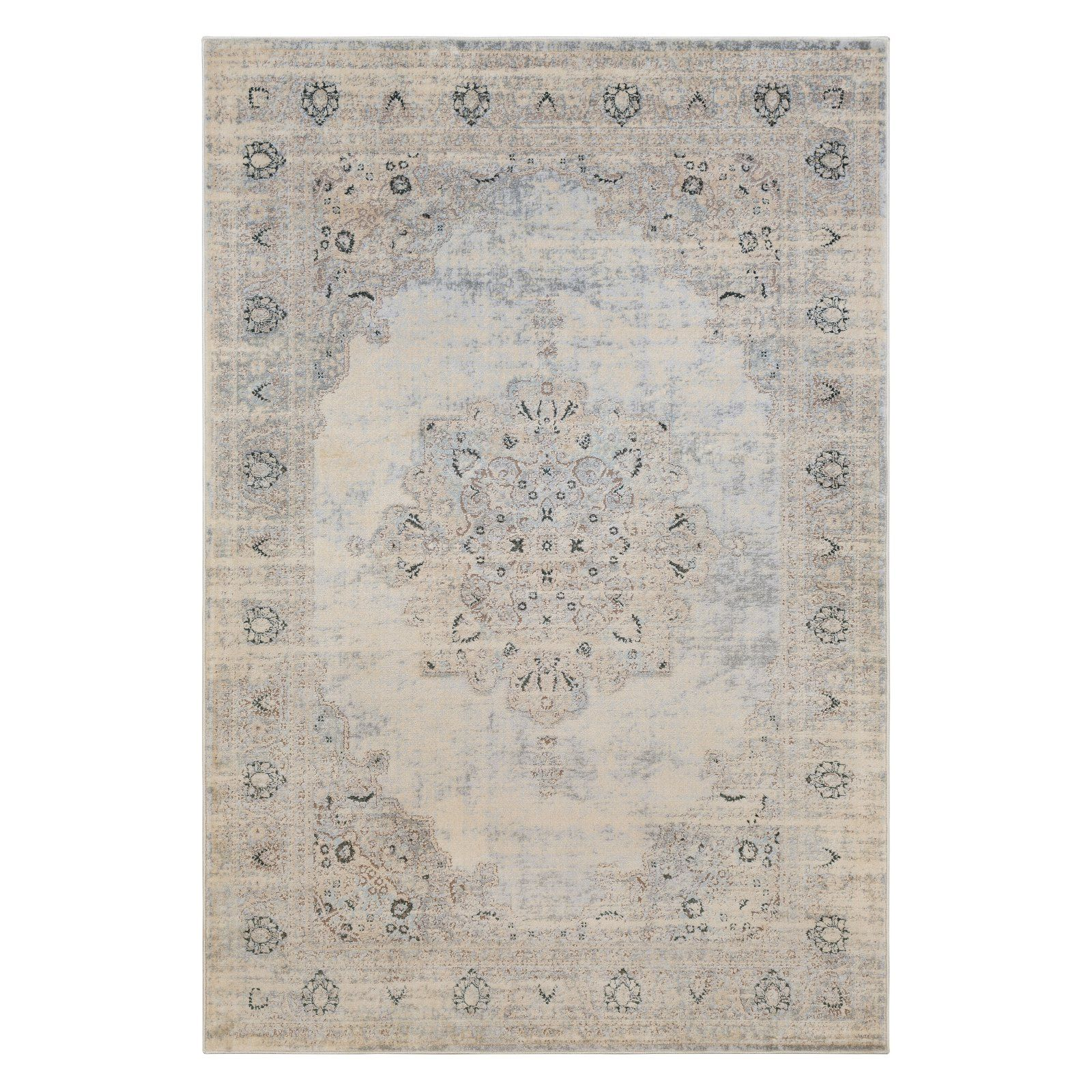 Photo of Surya Asia Minor Classic Medallion Indoor Space Rug Mild Grey/Cream