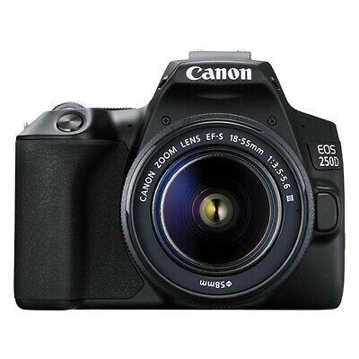 Canon Eos 250d 24 2mp 4k Digital Slr Camera With 18 55mm Lens Ebay Dslr Camera Mirrorless Camera Eos