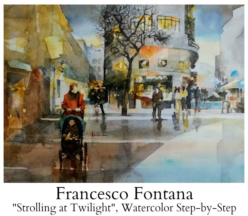 Francesco Fontana Watercolor Step By Step Article For Daniel Smith