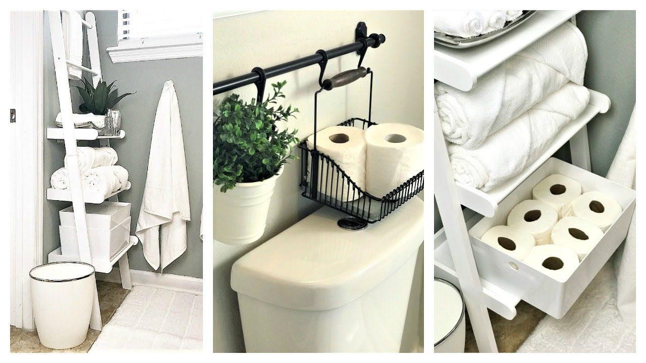 New Small Bathroom Organization Ideas Ladder Shelf Storage Small Bathroom Organization Bathroom Organization Diy Very Small Bathroom