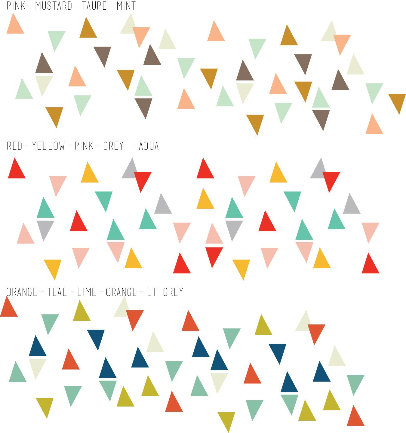 Confetti Triangles  WALL DECAL par TheLovelyWall sur Etsy