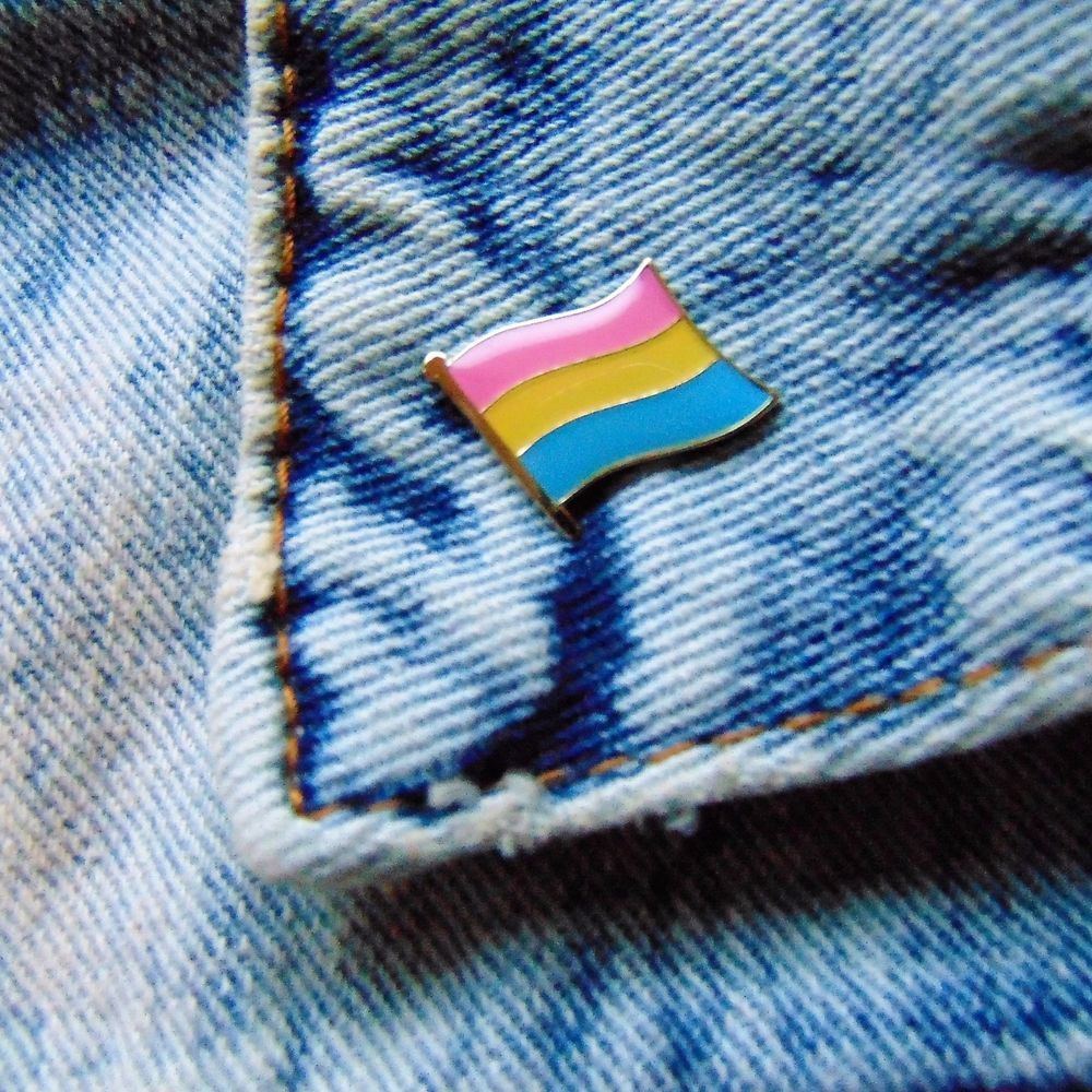 pansexual pride flag mini enamel