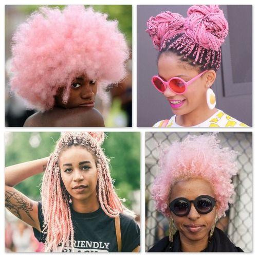 Black Fangirls Unite Black Girl Pink Hair Pink Curls Box Braids Hairstyles For Black Women