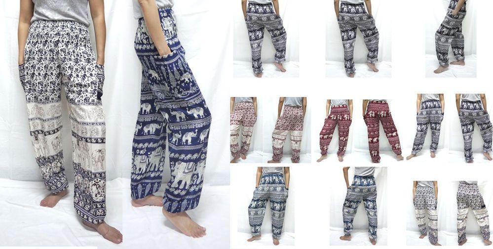 HIPPIE BOHO dot floral elephant yoga belly thai fisherman tribal pants trousers  #Unbranded #CasualPants