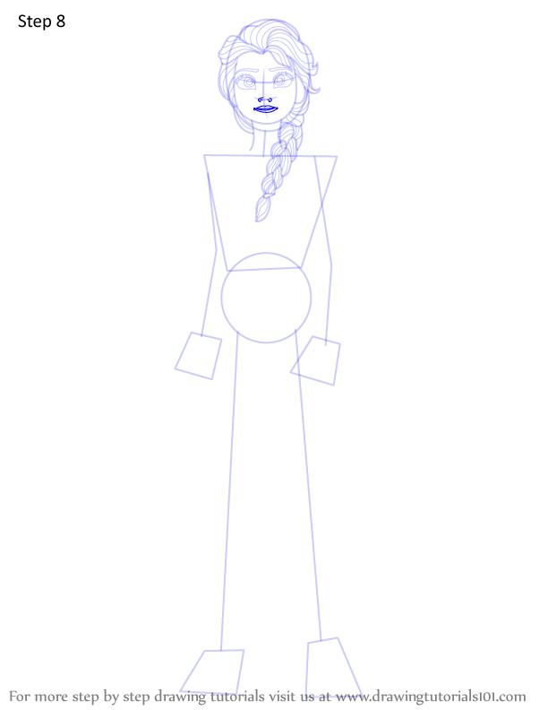 Learn How To Draw Elsa From Frozen 2 Frozen 2 Step By Step Drawing Tutorials How To Draw Elsa Frozen Drawings Elsa Frozen