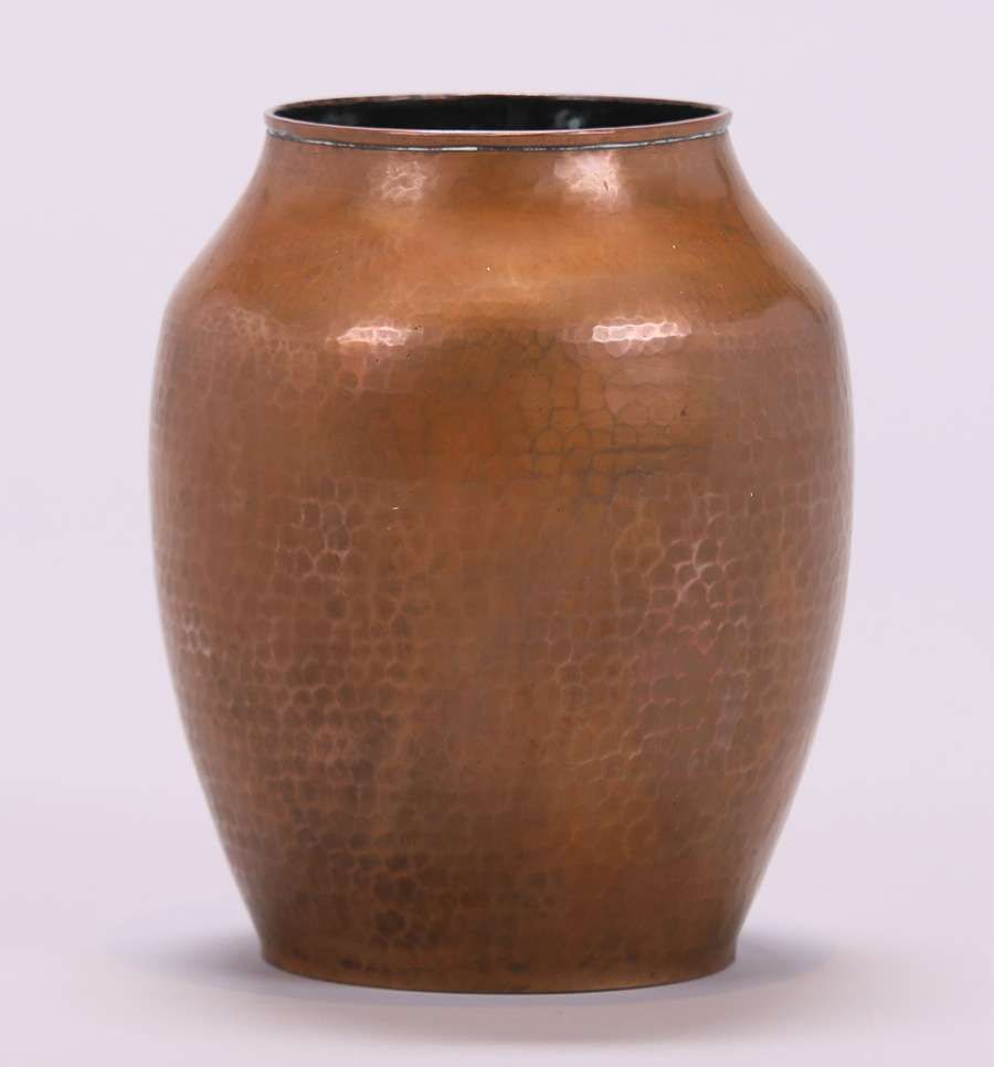 Early unsigned dirk van erp hammered copper vase worn original early unsigned dirk van erp hammered copper vase worn original patina reviewsmspy