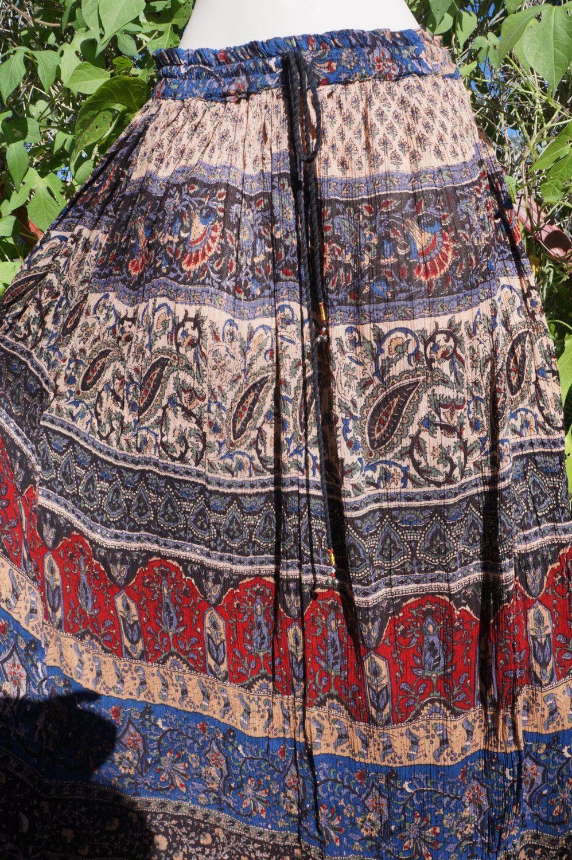 d5b643f008048e 70's Sheer Cotton Gauze Skirt, 70s Sheer Hippie Skirt, Sheer Indian Paisley  Batik Gypsy Skirt, 60s Indian Gauze Wrap Skirt, Phool, ...