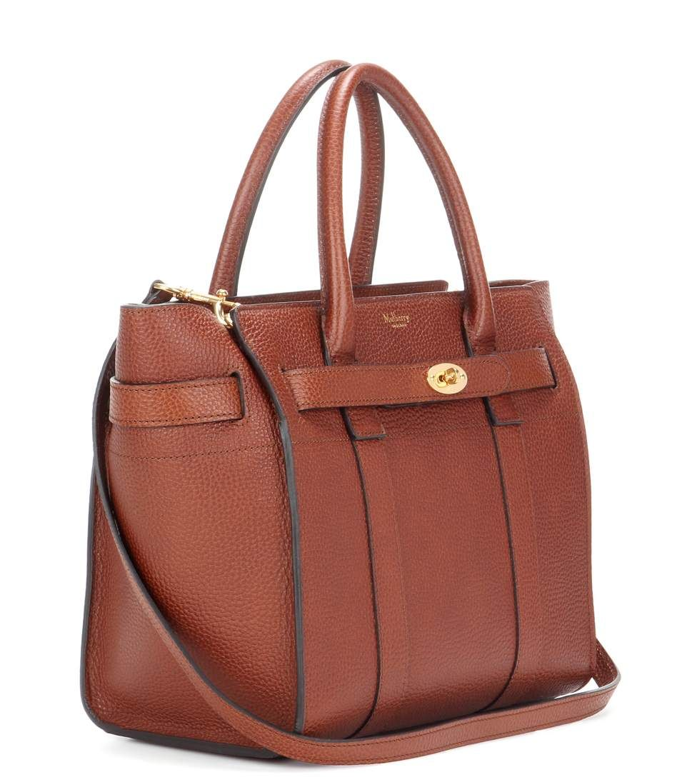 787d81f01b83 Small Zipped Bayswater Leather Tote » Mulberry ▻ mytheresa Brown Leather  Handbags