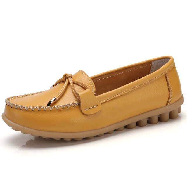 Ozersk genuine leather flats casual slip on loafers woman shoes comfortable soft bottom flat ... Ozersk genuine leather flats casual slip on loafers woman shoes comfortable soft bottom flat shoes vintage woman footwear,