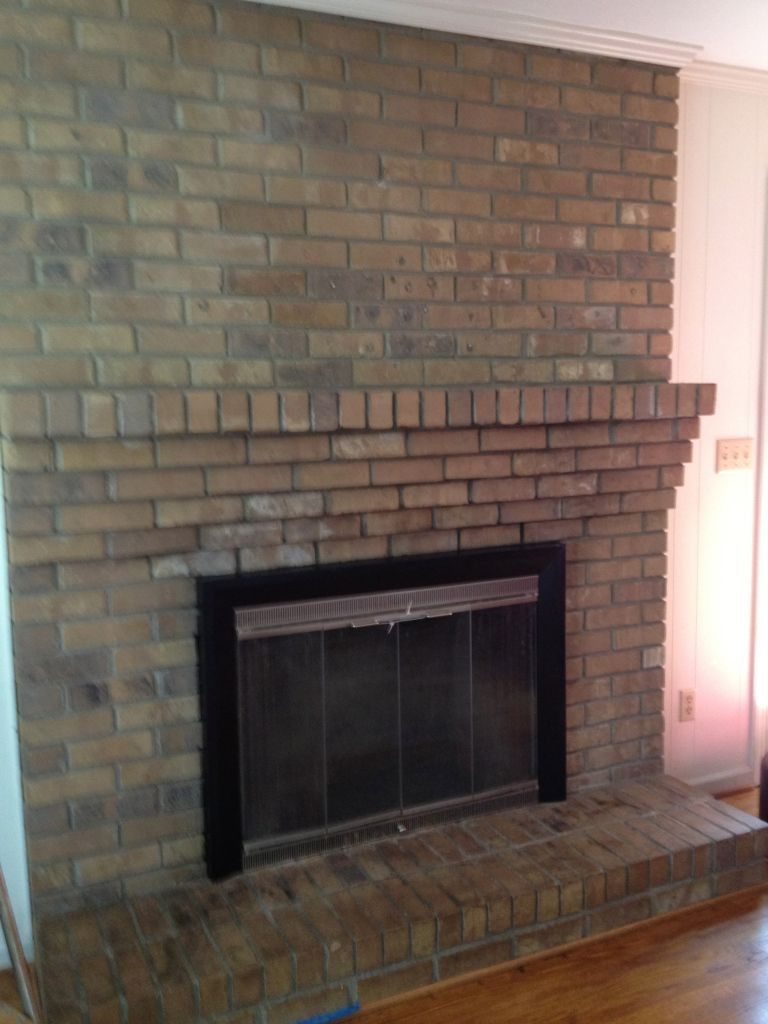 Whitewashed Fireplace Disaster And Fix Fireplace White Wash