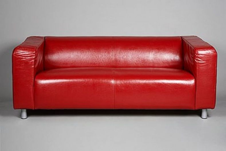 Red Vinyl Couch