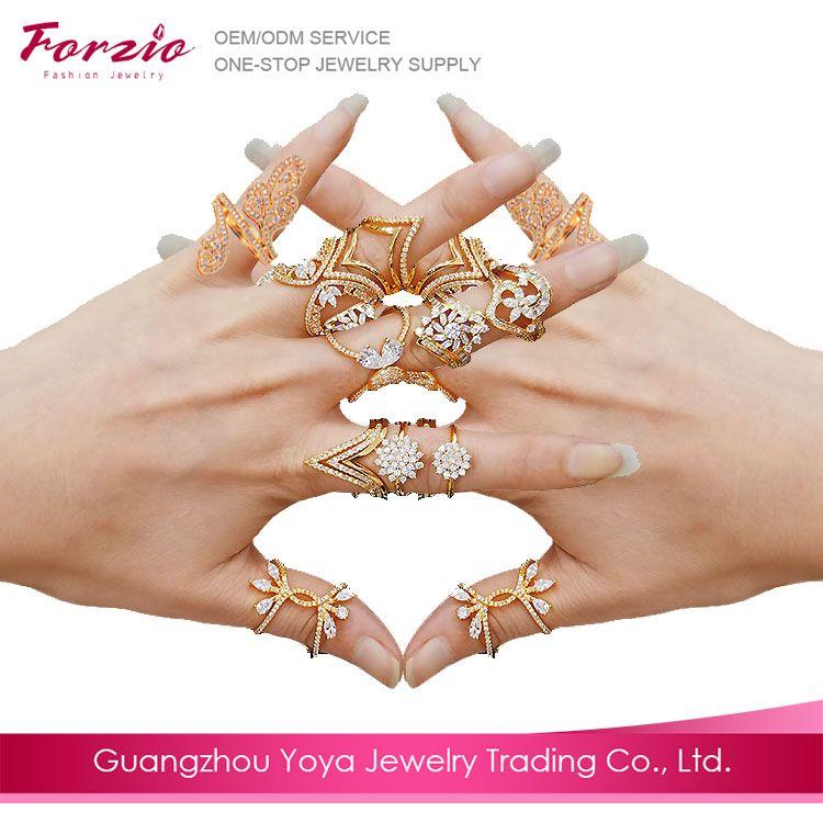 RM1003 fashion 22k plated gold jewelry dubai, latest gold ring ...