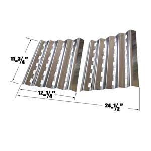 STAINLESS STEEL HEAT PLATE FOR BRINKMANN ELITE SERIES 4445, 810-4445-0, 810-2500, PRO SERIES 2500 GAS MODELS