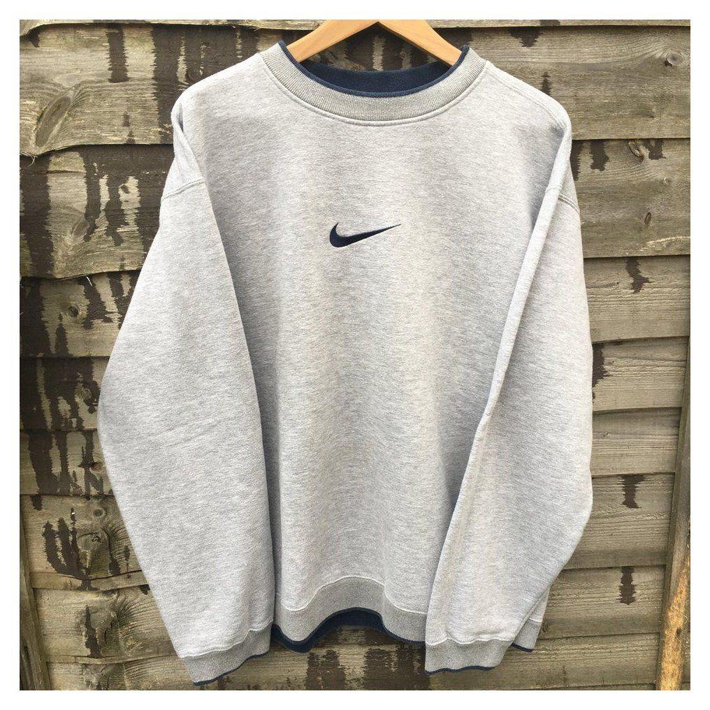 Retro Nike Grey Sweatshirt Size Xl Fits L Xl Depop Nike Grey Sweatshirt Nikegreysweatshir Vintage Nike Sweatshirt Trendy Hoodies Vintage Hoodies [ 1016 x 1016 Pixel ]
