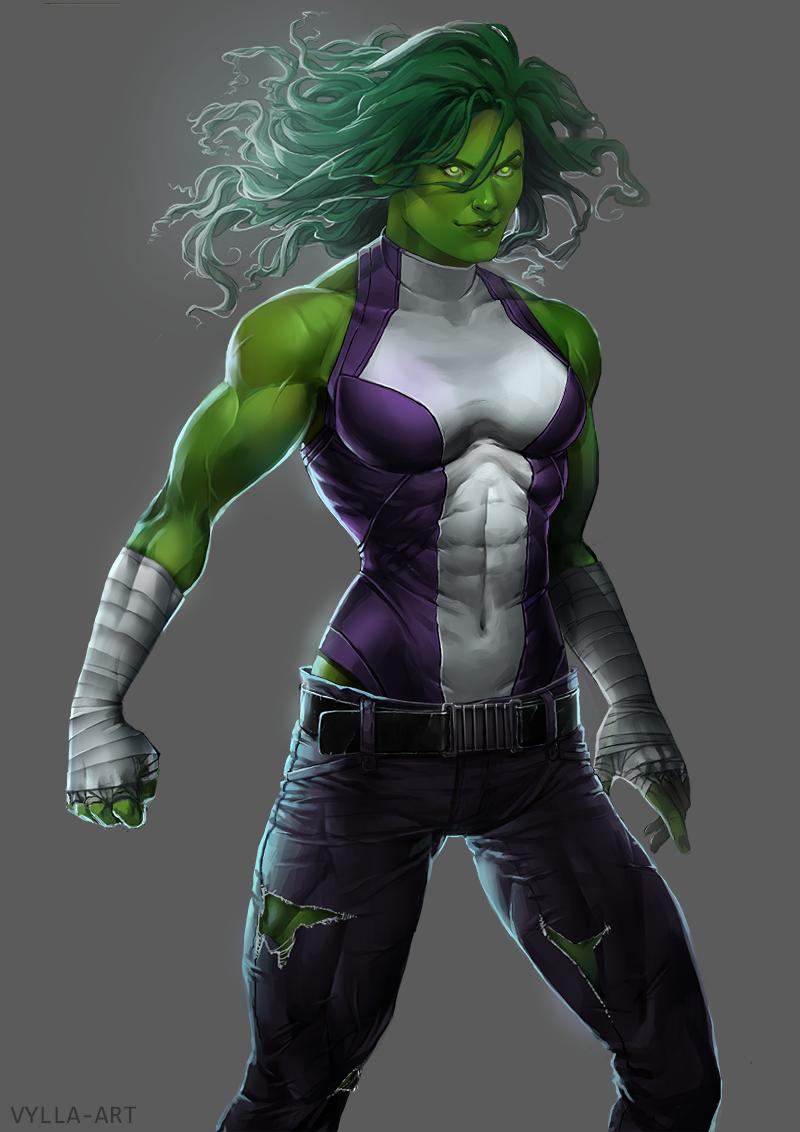 She Hulk By Vylla On Deviantart Shehulk Hulk Art Hulk Marvel