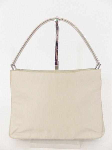 PRADA SCHULTER TASCHE BAG beige mit LEDER! LUXUS PUR! /RK101 bei Secondherzog