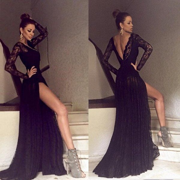 Sexy long sleeve prom dresses