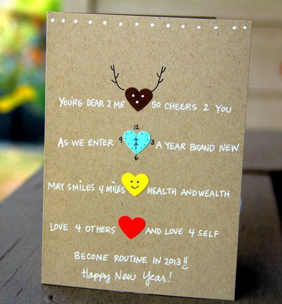 New Year Cheer New Year's Card par thepaperhugfactory sur Etsy