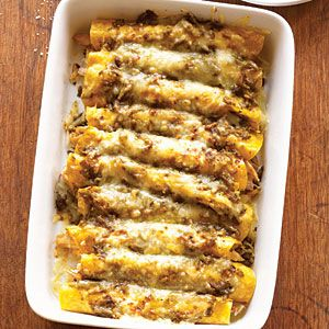 Green Chile Chicken Enchiladas from The Sunset Cookbook...I've made these a couple of times, they're quick and incredibly yummy!!! <3