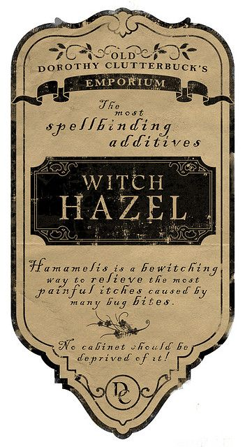 Potion ingredients label by love manor via flickr