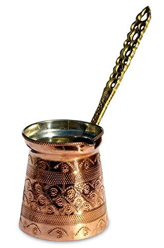 Turkish Arabic Greek Stovetop Coffee Maker Ibrik Cezve Briki Brass Handle